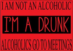 I Am Not An Alcoholic funny metal sign   200mm x 140mm  (2f)